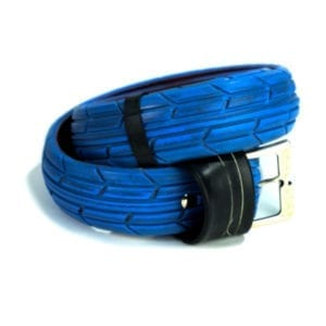 Blue Upcycle Belt – Pants up
