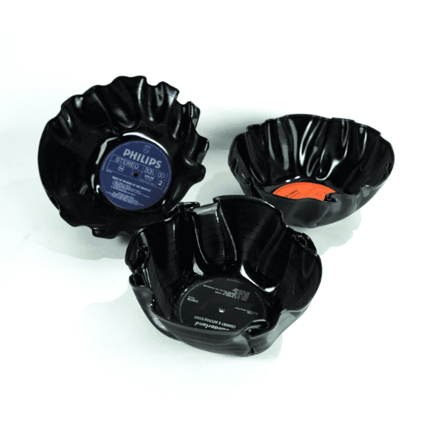 Upcycled Vinyl Bowls, Recycled Gifts