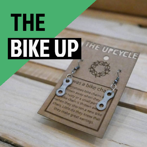 Upcycled Bike Earrings, Recycled Bikechain Earrings