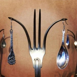 Teaspoon earrings