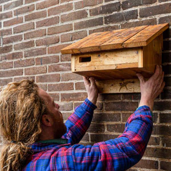 Ophangen Duurzame Nestkasten - Upcycle Nestkasten